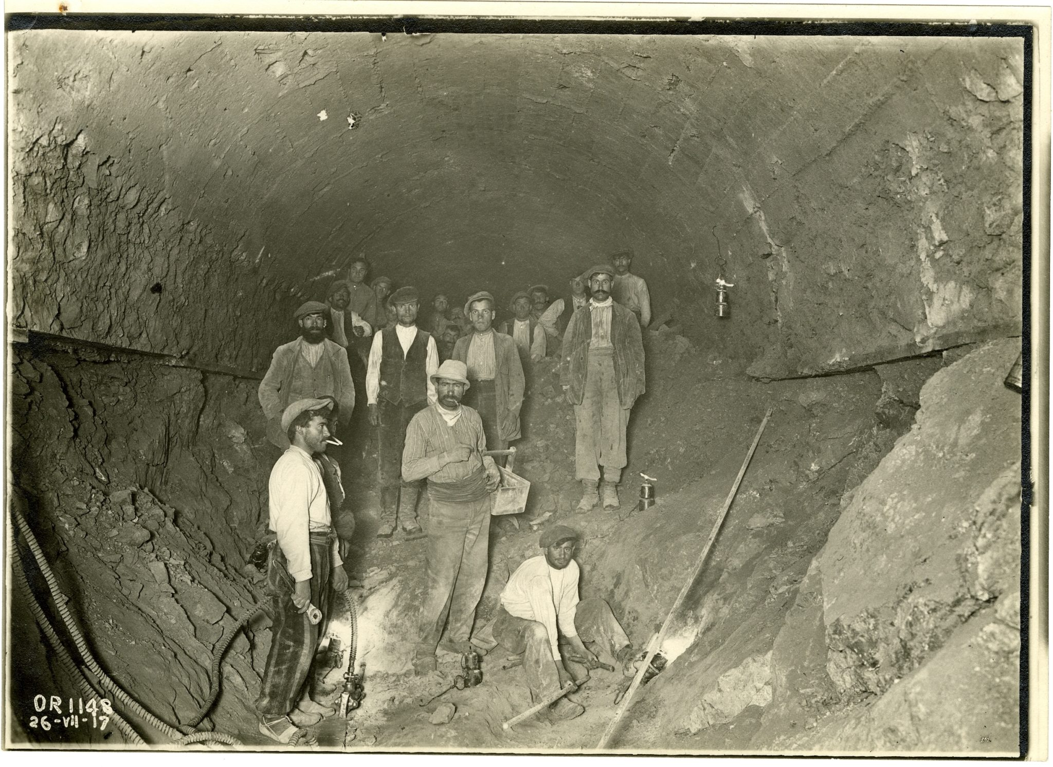 treballadors de la central hidroelèctrica de Seira
