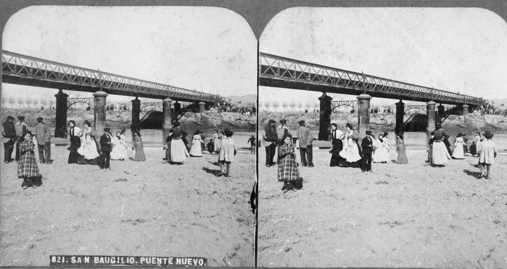 El Pont Nou, vista estereoscòpica