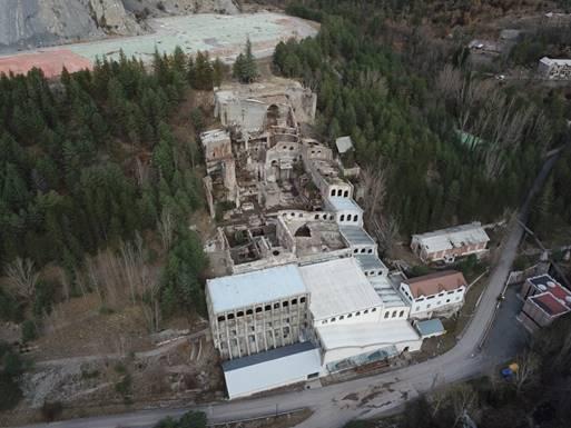 Vista aèria del complex de la fàbrica
